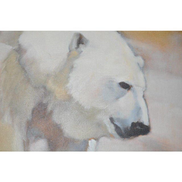 "Ute Simon ""Polar Bear"" Oil on Canvas Painting, Circa 2003 - Image 6 of 9"