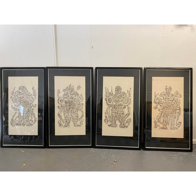 Vintage Cynocephaly Eastern Zodiacal Rubbings - Set of 4 For Sale - Image 11 of 11