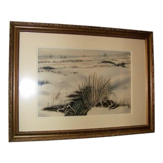 Irish Watercolor Snow on the Bog by Rev Jh Flack For Sale