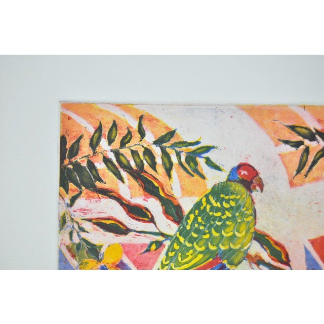 'Tropical Parrot' Colorful Monoprint - Image 6 of 8