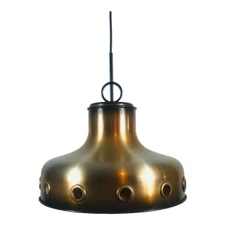 1970s Space Age Copper Pendant Lamp by Doria, Germany For Sale