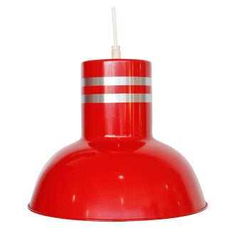 Industrial Lightolier Red Light Fixture For Sale