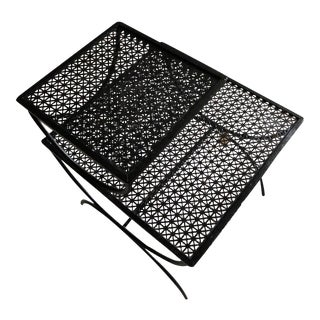 Mid-Century Modern Russell Woodard Mesh Iron Table For Sale