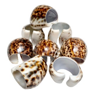 Natural Shell Napkin Rings, Set of Eight For Sale