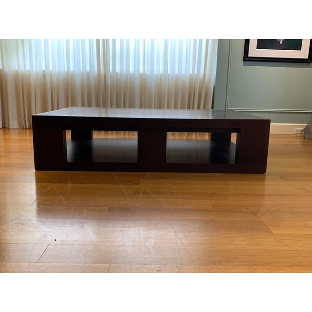 Christian Liaigre Christian Liaigre Contemporary Walnut Coffee Table For Sale - Image 4 of 13