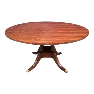 Traditional Leighton Hall Rosewood Round Pedestal Dining Table For Sale