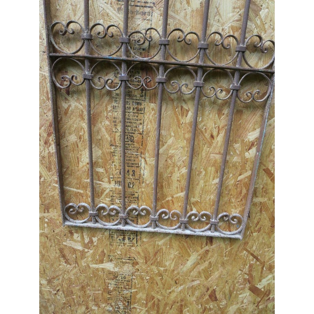 Antique Victorian Iron Gate Window Garden Fence Architectural Salvage - Image 4 of 6