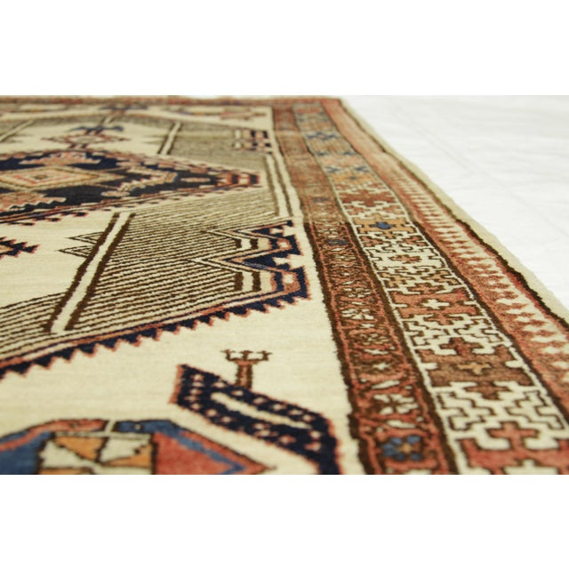 1950s Antique Persian Sarab Rug With Incredibly Detailed Tribal Design - 3′9″ × 15′4″ For Sale - Image 5 of 11