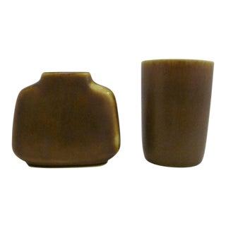 Danish Modern Ceramic Vessels by Per and Anna-Lise Linnemann - Set of 2 For Sale