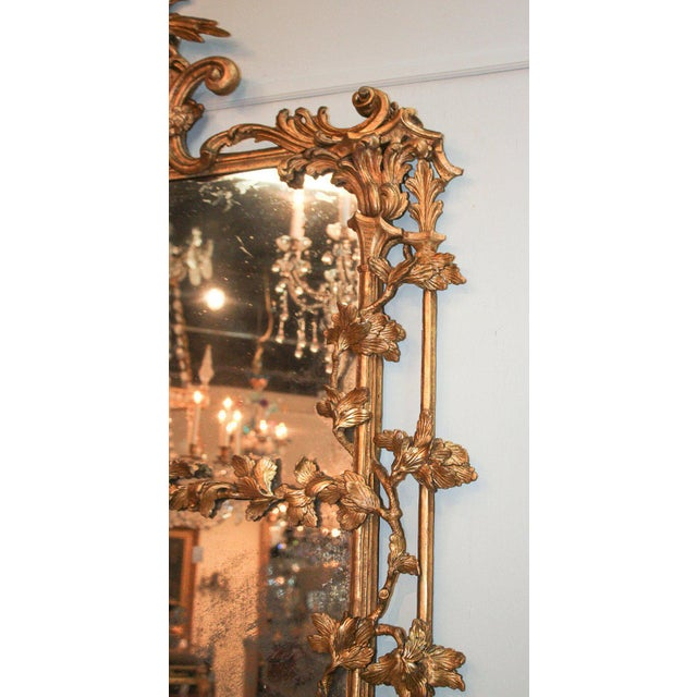 Gold Rare Early 19th Century English Chippendale Gilt Mirror For Sale - Image 8 of 10