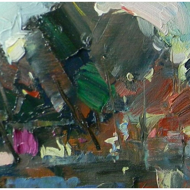 Jose Trujillo Abstract Impressionism Modern Marsh Coa Fauvism Oil Painting For Sale - Image 4 of 5
