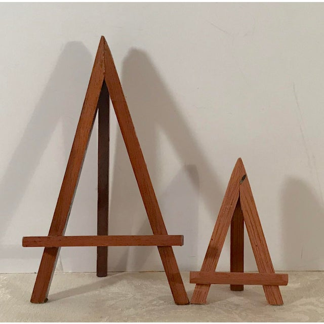 Modern Wooden Mini-Easels - a Pair For Sale - Image 9 of 9