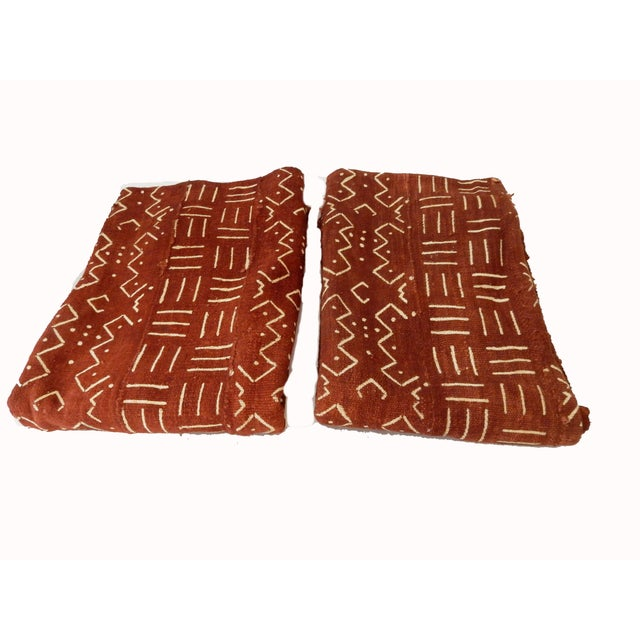 African Chocolate & Ivory Mud Cloth - Pair - Image 2 of 9