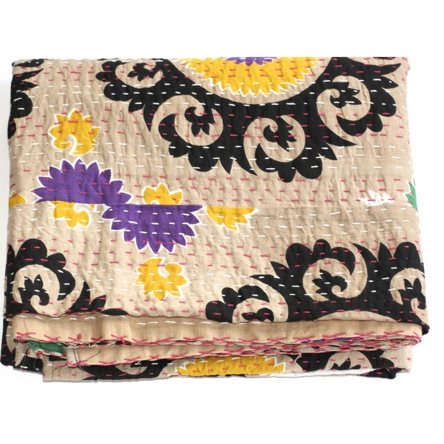 Kantha Suzani Throw - A Full For Sale