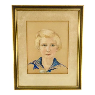 Early 20th Century Dutch Child Portrait For Sale
