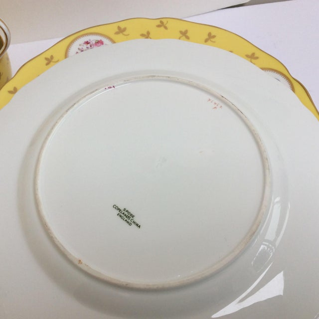 Vintage Spode China Set Yellow With Flowers - Set of 33 - Image 6 of 9