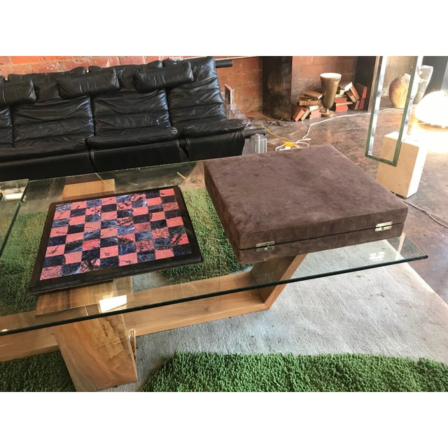 Glass Blue Marble and Art Glass Chess Game Set, Italy, Circa 1960s For Sale - Image 7 of 9