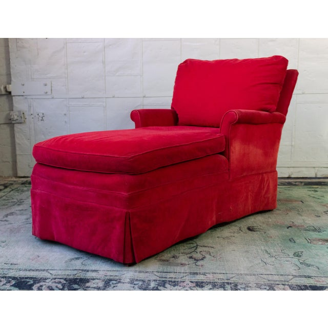 Red Small Ladie's Chaise Longue For Sale - Image 8 of 11