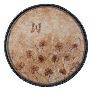 Pressed Flower & Butterfly Tray C.1920s For Sale