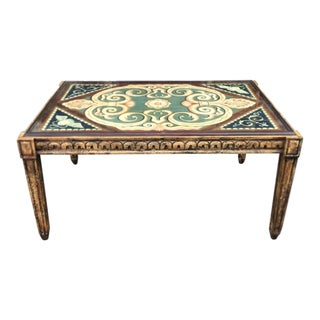 Painted Italian Thomas W. Morgan Designer Coffee Table For Sale