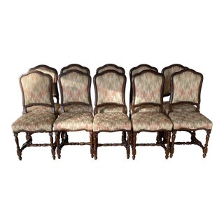 Late 19th Century Italian Dining Chairs - Set of 10 For Sale