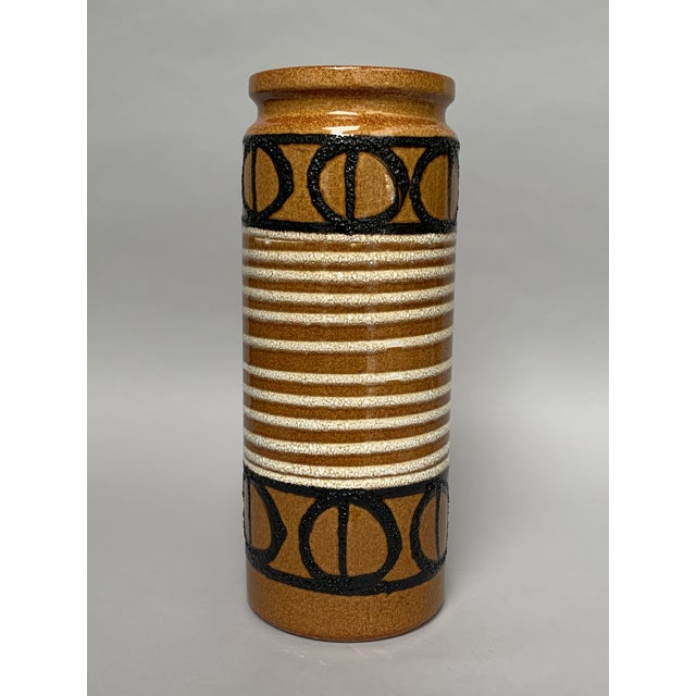 Ceramic 1960s Boho Chic Ceramic Umbrella Stand or Floor Vase For Sale - Image 7 of 13