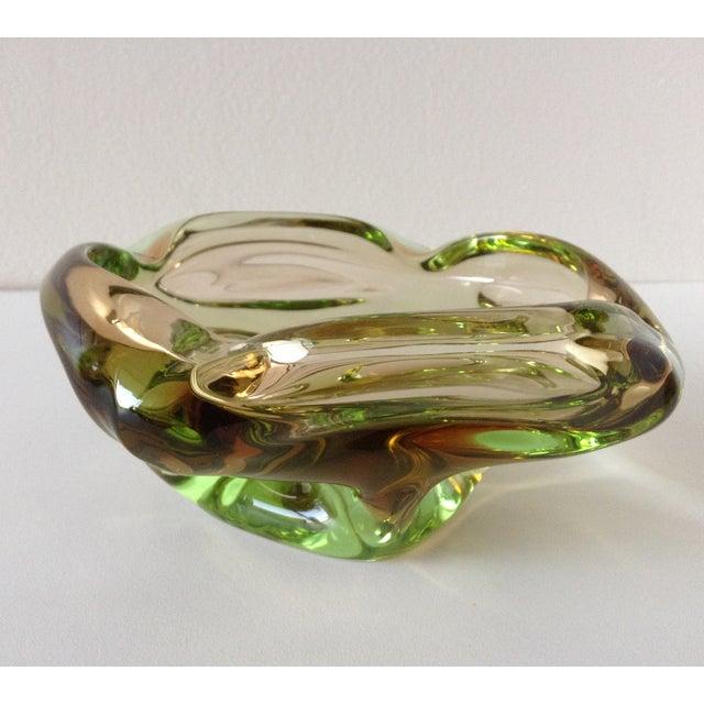 Segues Green & Taupe Italian Murano Bowl - Image 4 of 9