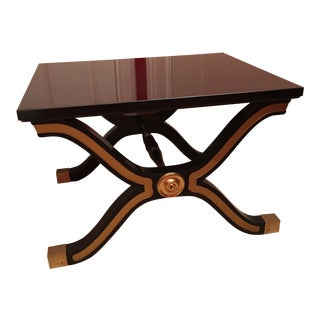 Dorothy Draper Espana Black & Gold Table by Herritage