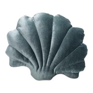 Small Shell Pillow - Pine Green Velvet