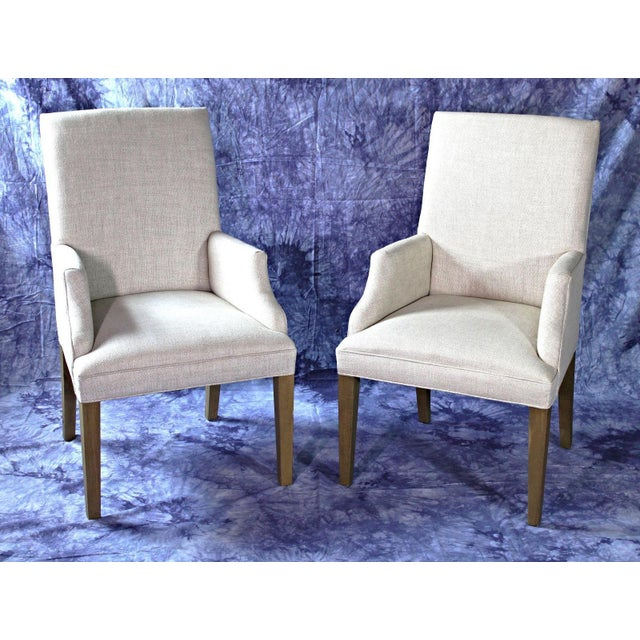 Late 20th Century Modern Upholstered Armchairs - A Pair For Sale - Image 5 of 11