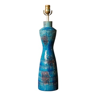 Mid-Century Rimini Blue Bitossi Lamp by Aldo Londi For Sale