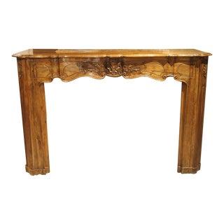 18th Century Louis XV Walnut Wood Mantel For Sale