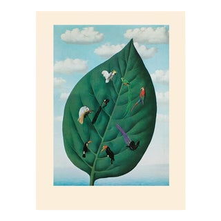 """1972 Rene Magritte, """"The Third Dimension"""" First Edition Surrealist Photogravure For Sale"""