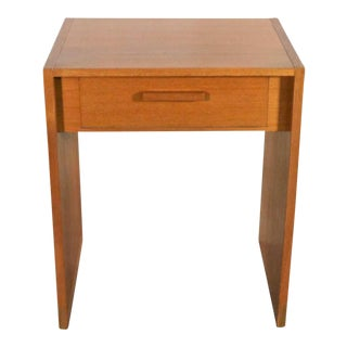Scandinavian Modern Teak Single Drawer Nightstand or Tiny Desk by Faarup Mobelfabrik For Sale