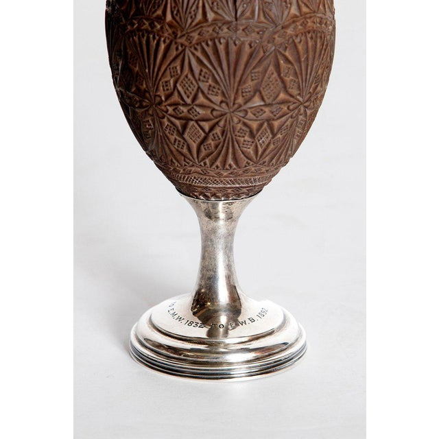 Metal Late 18th Century Geroge III Coconut & Silver Goblet by Charles Hougham For Sale - Image 7 of 13