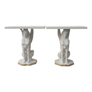 Egyptian Bastet Console Tables - a Pair For Sale
