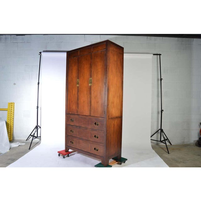 Michael Taylor for Baker Middle East Collection Walnut Highboy Dresser For Sale - Image 9 of 12