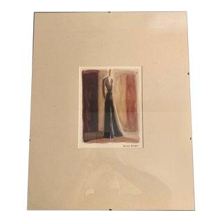 Giorgio Armani Fashion Illustration Print For Sale