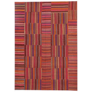 "20th Century Turkish Jajim Kilim Flat-Weave Rug - 9'1"" X 12'9"" For Sale"