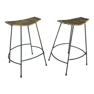 Vintage Arthur Umanoff Bar Stools - a Pair For Sale