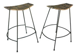 Image of Wrought Iron Bar Stools