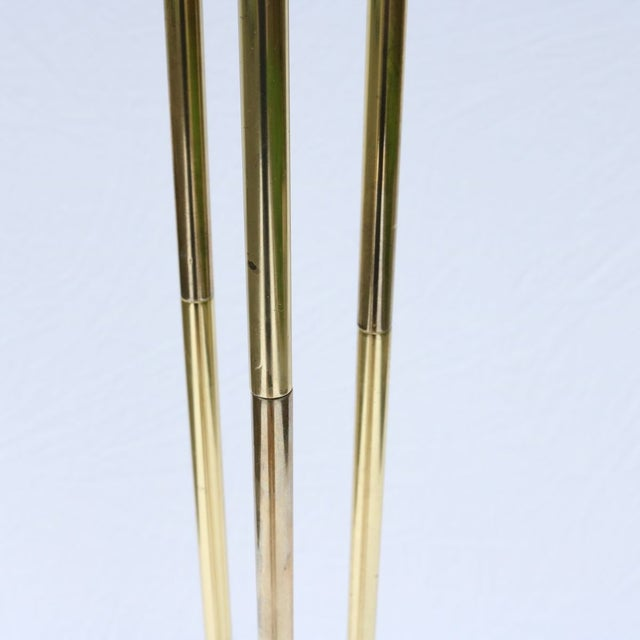 Vintage Italian Gold Three-Prong Torchiere - Image 6 of 10