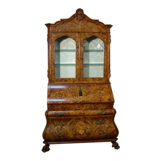 20th Century Louis XVI Style Italian Inlaid Secretary Desk For Sale