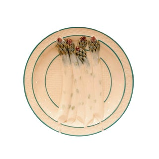 19th Century French Asparagus Plate For Sale