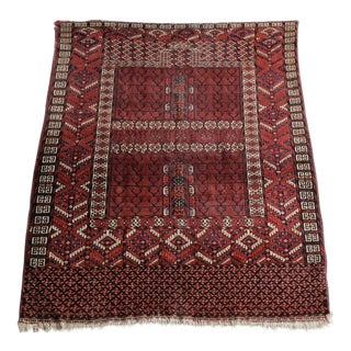 "Antique Turkoman Ensi Rug - 3'8""x4'10"""