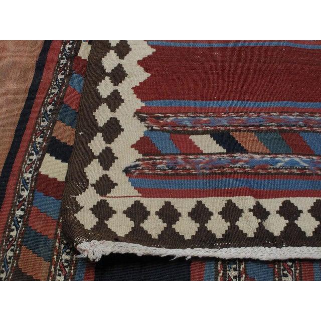 Antique Shahsavan Kilim For Sale - Image 4 of 9