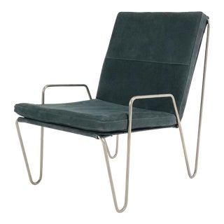 1950s Mid-Century Modern Verner Panton Dark Green Bachelor Lounge Chair For Sale