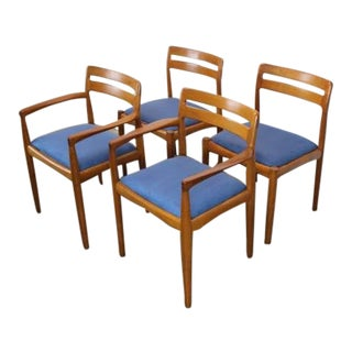 1960s Danish Modern h.w. Klein Teak Dining Chairs - Set of 4 For Sale