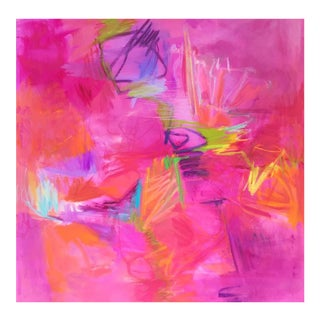 """Large Abstract Expressionist Oil Painting by Trixie Pitts """"Cocktail Party"""""""
