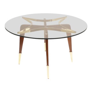 1950s Paolo Buffa Attrib. Mid-Century Coffee Table For Sale